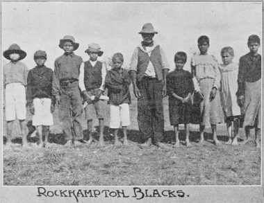 "This photo taken in 1907 is of a group of Aboriginals who were ""dispersed"" from Rockhampton to the Barambah (now known as Cherbourg) Aboriginal Settlement, some 466 kms away. These people were subject to the confines of ""The Aboriginal Protection and Restrictions of the Sale of Opium Act 1897"". Unfortunately, these people are not identified. 
